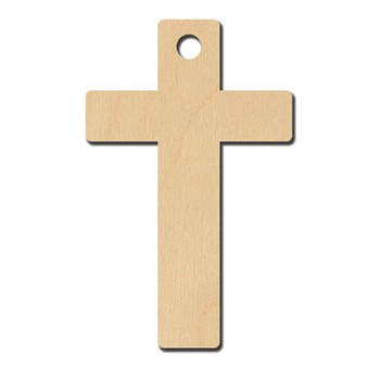 "Plain Cross with hole - 2 1/2"" tall"