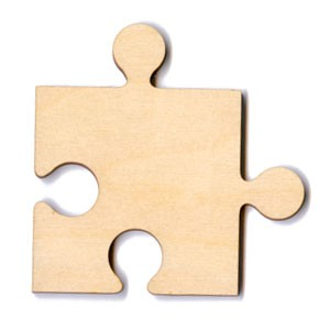 "Puzzle Piece - 2 1/2"" Internal"