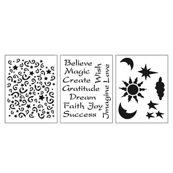 "Stencil 3pc Value Pack - Imagine - 7"" x 10"""