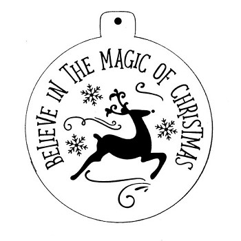 Stencil - Plum Purdy Believe in the Magic of Christmas