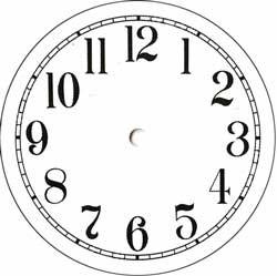 Styrene Clock Dial - White - 4 1/2