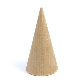 "Wooden Cone - 1 1/2"" x 3"""