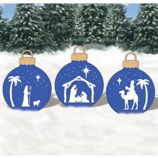 Plan-Giant Nativity Ornaments
