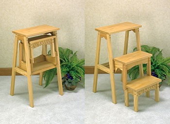 "Plan-Three Step Fold Up Stool (27"" high)"