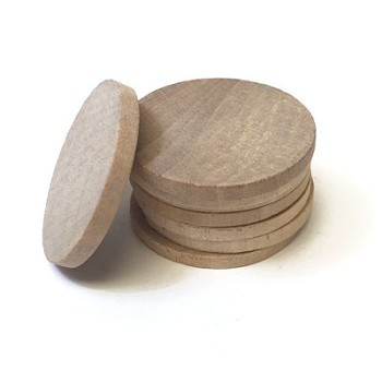 "Special 100pc Bulk Pack - Wood Disc - 1 1/2"" x 1/8"" (straight sides)"
