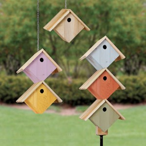 Plan-Pallet Wood Stacked Birdhouses