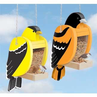 "Plan-Goldfinch & Baltimore Oriole Feeder Set (20"" tall)"