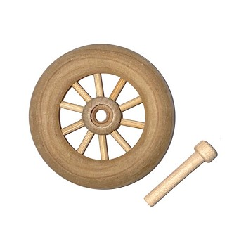 Spoked Wheel (axle is included) - 1 3/4""